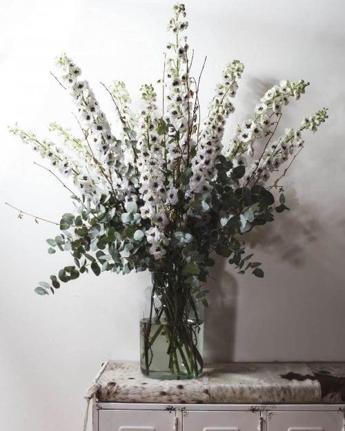 Delphinium Wedding Flower Centerpieces