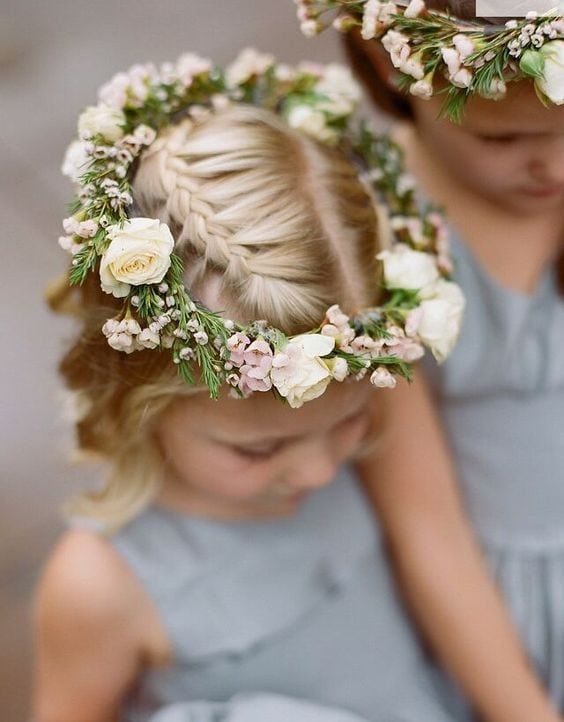 Flower Girl Crown in Cotswolds